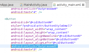 XML view of Android button