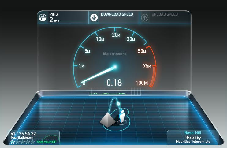 Orange Mauritius Speedtest