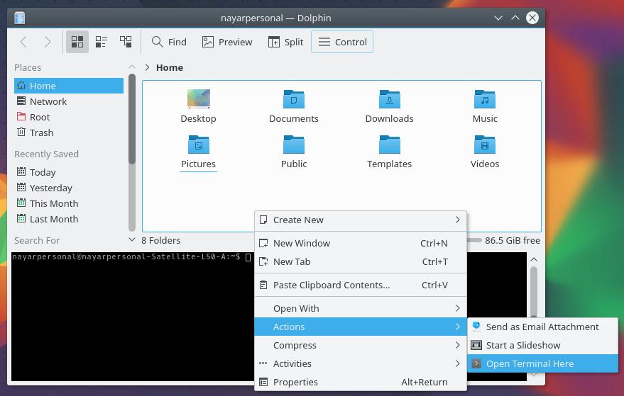 Dolphin in Kubuntu 16.04