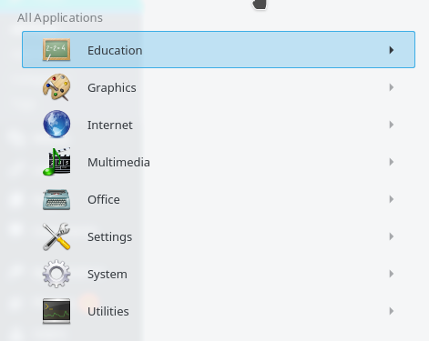 Kubuntu 16.04 icons