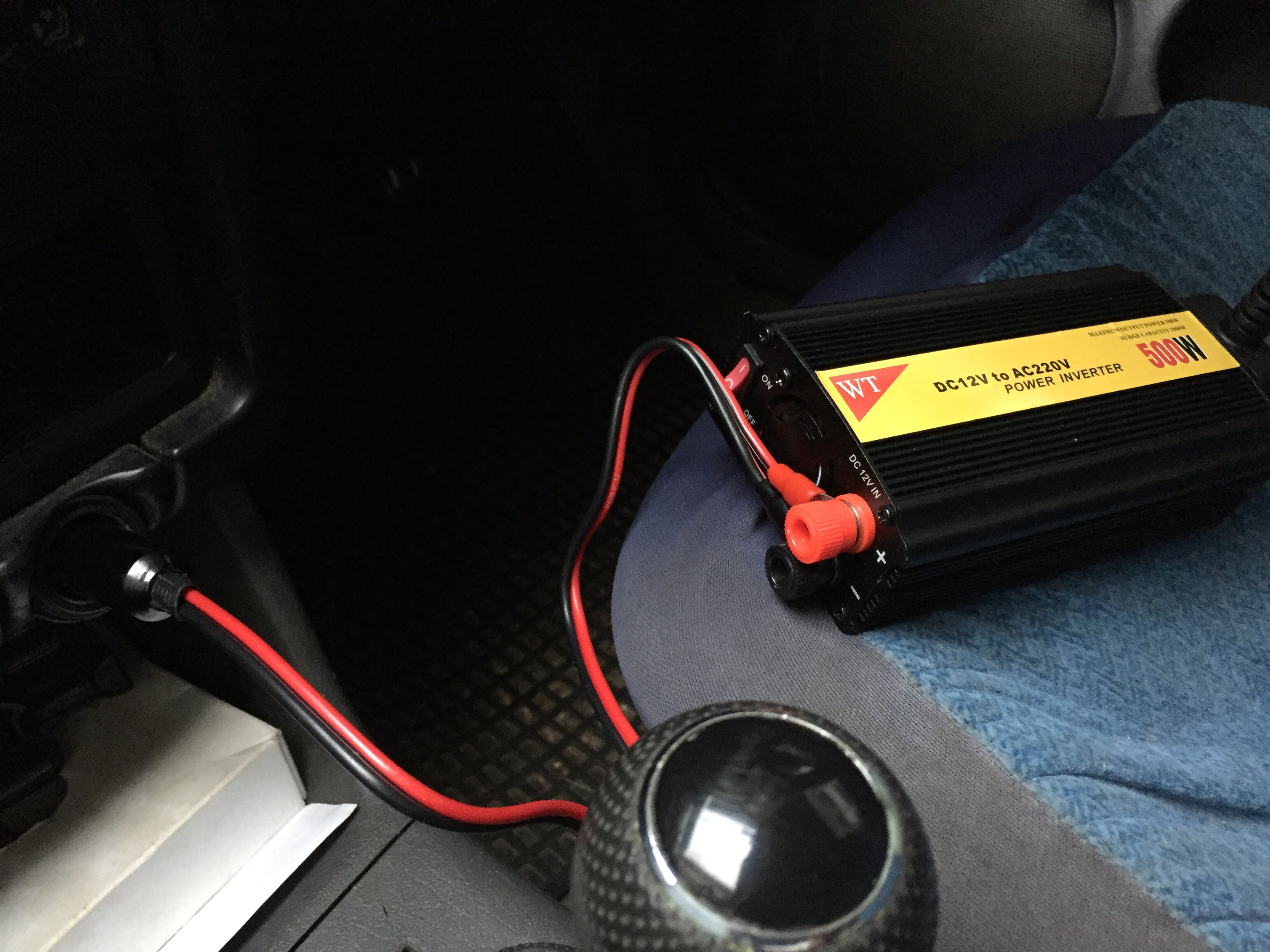 To Make The Laptop Charger Work With A Car Battery You Ll Require Inverter Here S My Setup